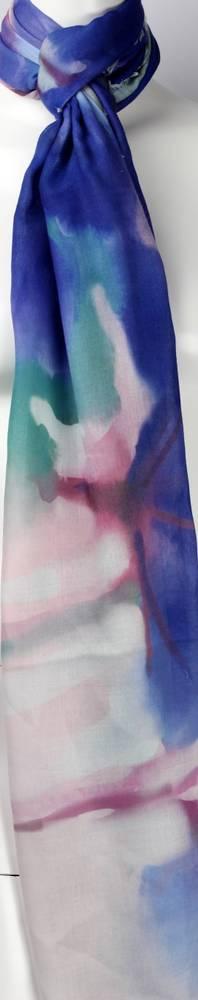 Alice & Lily printed scarf blue Style: SC/4453/Ltd. Ed.
