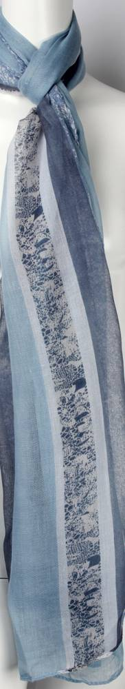 Printed  scarf blue Style:SC/4459/BLU