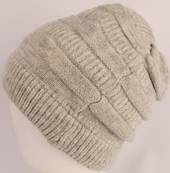 Headstart pull-on knit beanie silver Style : HS/4557