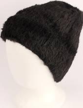 Headstart pull-on chenille beanie fully lined black Style : HS/4559