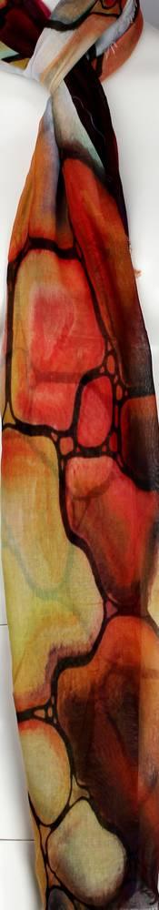 Alice & Lily printed  scarf orange Style:SC/4572/ORA