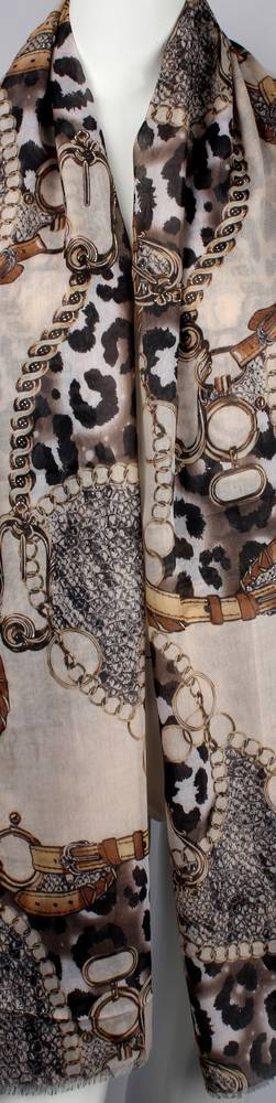 Alice & Lily printed  scarf beige Style:SC/4646BGE