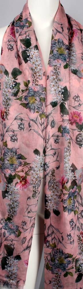 Alice & Lily printed  scarf pink garden floral Style:SC/4649/PINK
