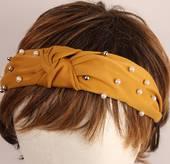 Fashion pearl bead headband mustard Style: HS/4668/MUS