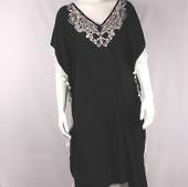Alice&Lily embroidered and black and white caftan Style: SC/4522BW