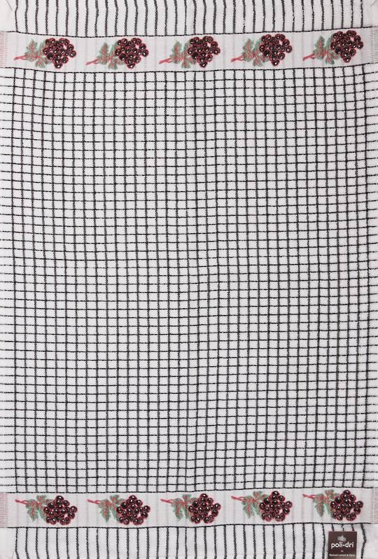 Samuel Lamont poli dri black grape  tea towel Code:TT-706JGRAPE.