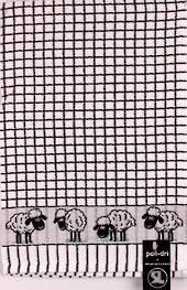 Samuel Lamont poli dri black sheep  tea towel Code:TT-706JSHEEP