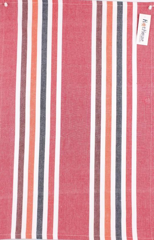 Tea towel 'Atlanta stripe' red Code: T/T- ATL/STR/RED