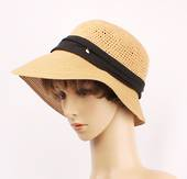 HEAD START  cotton crochet cloche beige/blk   Style:HS/9131