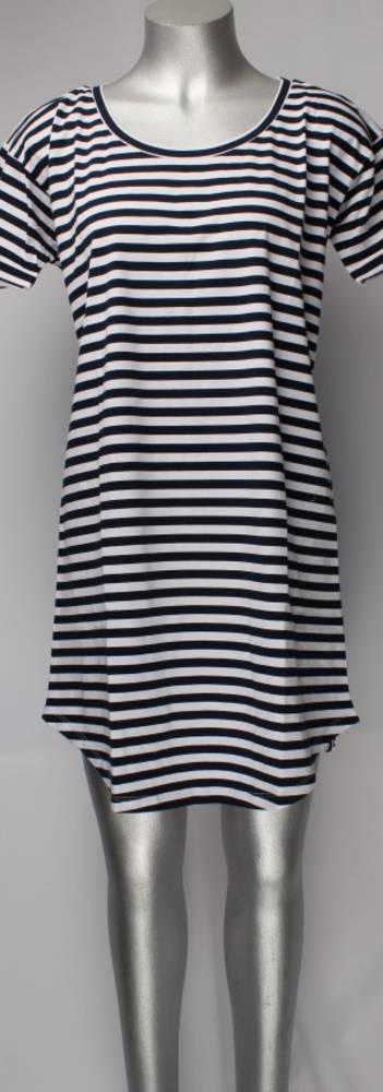 Striped dress/nightie navy/white Style; AL/ND-110