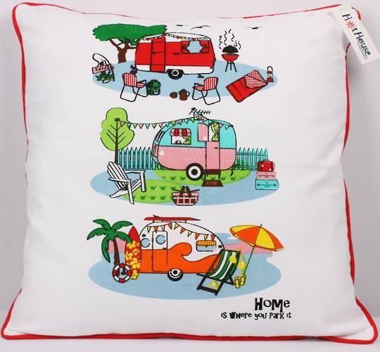 Retro Caravans cushion cover Code: CUS/CVR-RET