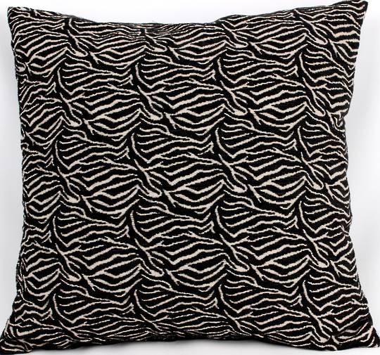 Savanna filled cushion 42x42cm black Code: CUS-SAV