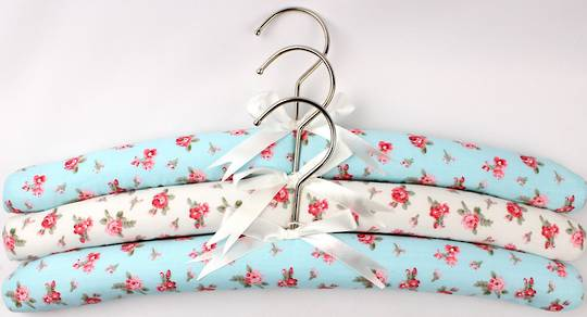 Printed padded coat hangers-set of 3 'Summer' Code:EH/SUM