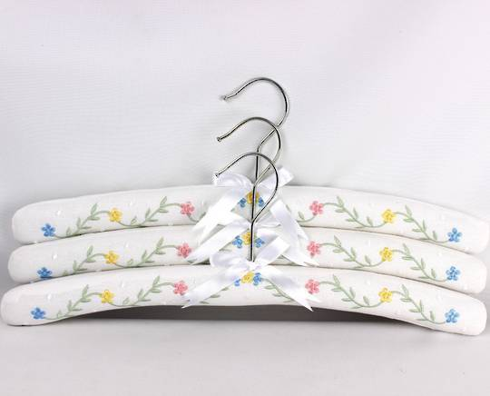 Printed padded coat hangers-set of 3 'Botanic' Code:EH-BOT