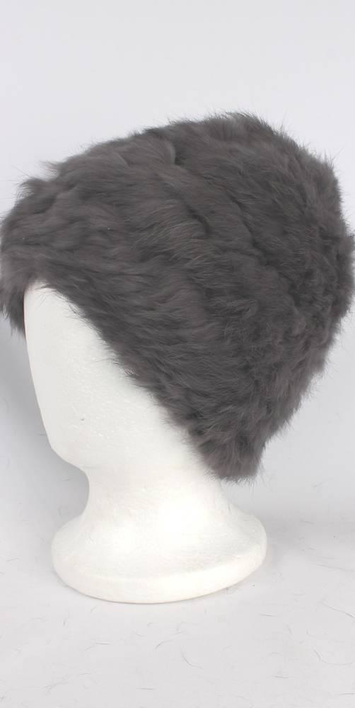 Warm winter fur beanie grey Style: HS4420 GRY