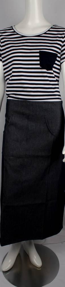Solid denim black half apron Code: APR- HALF/DEN/BLK
