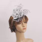Headband fascinater w flower grey STYLE: HS/4680/GREY