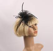 Headband fascinater w w spotted net black STYLE: HS/4681 /BLK