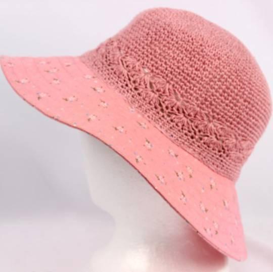 Cotton floral hat rose Style: HS/9082