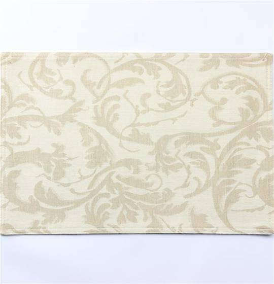 Hot house jacquard placemats scroll cream Code: PM/SCR/CRM