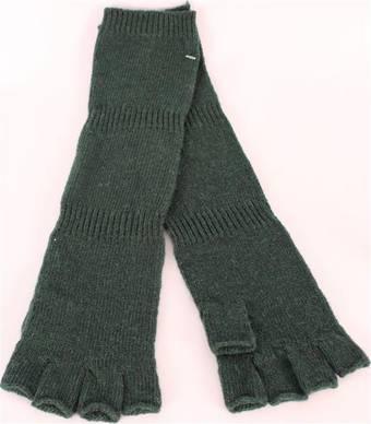 Ladies wool/angora  fingerless  glove forest S/LK2366