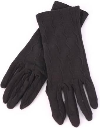 Ladies textured knit glove black S/LK3255
