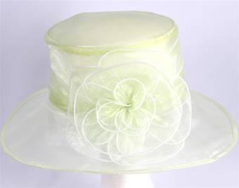 Organza fashion hat lime Code:HS/1216