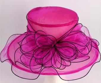 Organza fashion hat rose Code:HS/1219