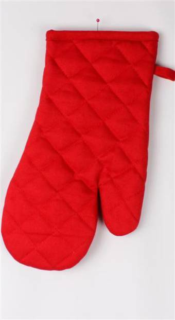 Oven glove plain solid red code:OG-HH/S-RED