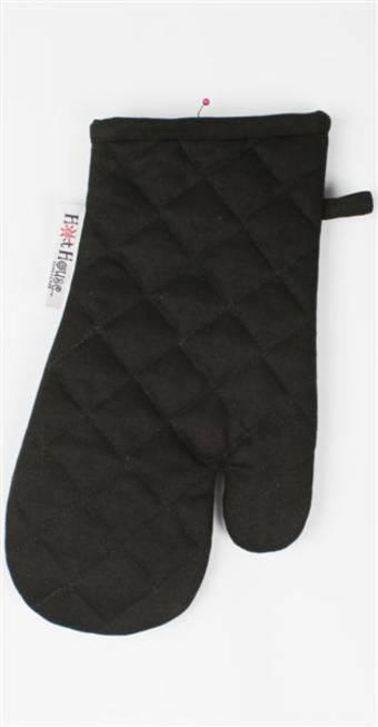 Oven glove plain solid black code:OG-HH/S-BLK