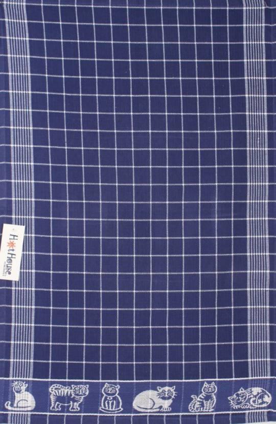 Tea towel jacquard blue Code: TT-JAC/CAT/BLU CLEARANCE $2.50ea