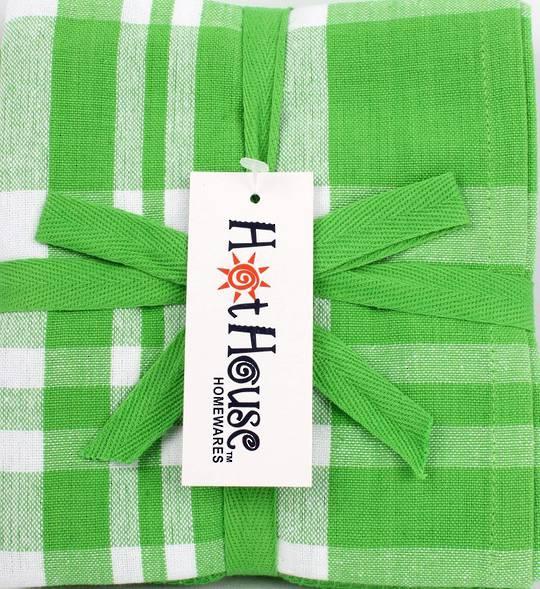 THREE PACK-Tea towel 'Newport' green Code: T/T-NEW/3PK/GRN