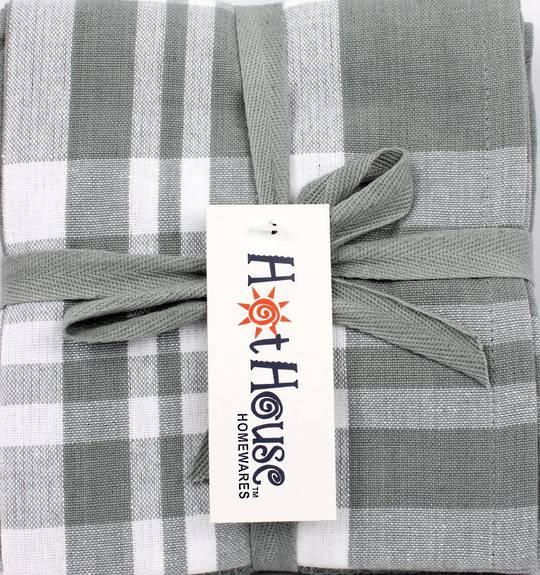 THREE PACK-Tea towel 'Newport' silver Code: T/T-NEW/3PK/SIL