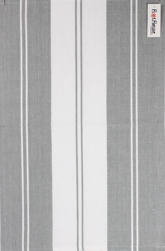 Tea towel 'Newport stripe' silver Code: T/T- NEW/STR/SIL