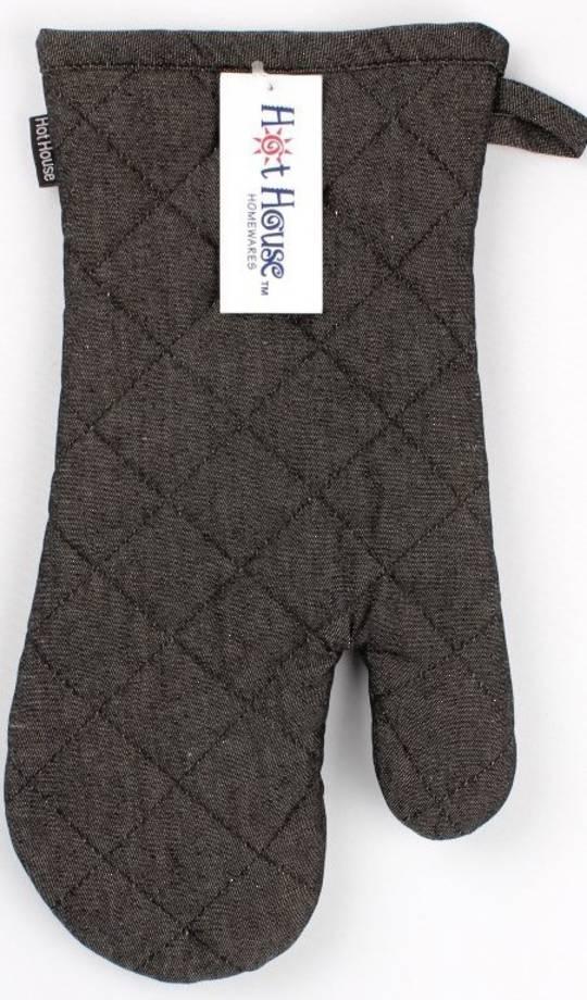 Oven glove plain black denim code:OG-BLK/DEN