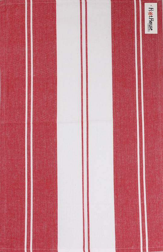 Tea towel 'Newport stripe' red Code: T/T- NEW/STR/RED