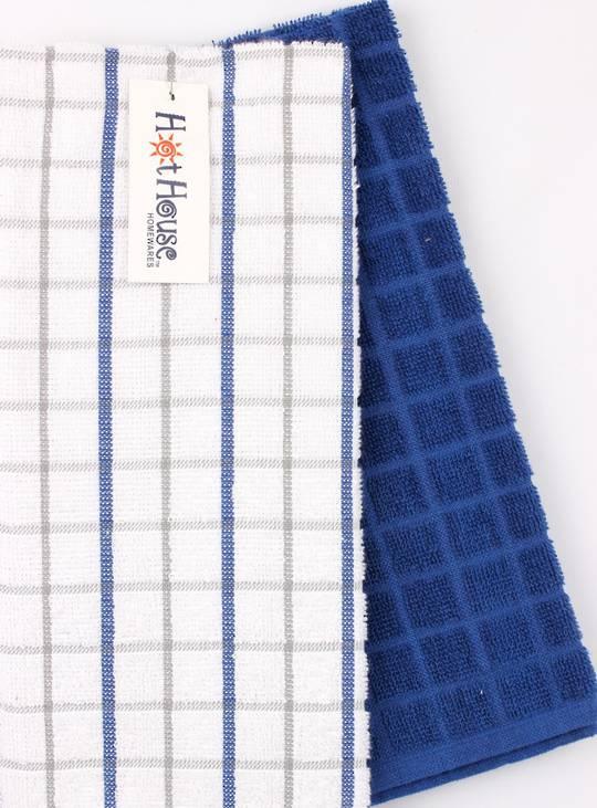 Kitchen hand towels 2 pack terry 'Sorrento' royal Code: KT-SOR/2PK/ROY