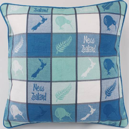 Cushion cover map/kiwi aqua Code: S600/MK/A