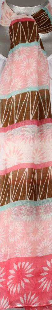 Printed viscose scarf. SC/4187/PINK