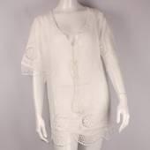 Alice&Lily white lace cotton caftan w tie cream Style: AL/CAF4310ICRM