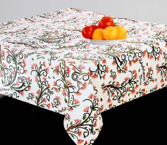 Tablecloth Pohutukawa 100x100cm.  Code: T/C-POH