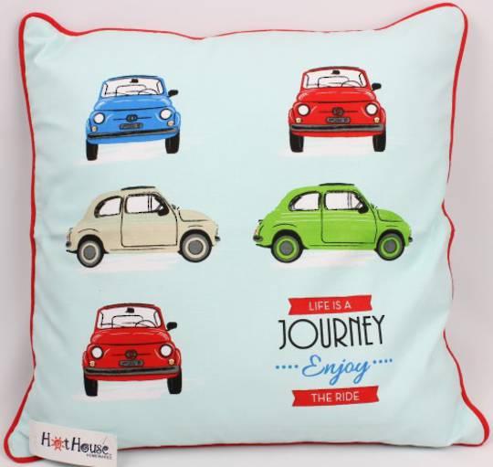 Bambina cushion cover 'Life's a journey enjoy the ride'  Code: CUS-CVR/BAM