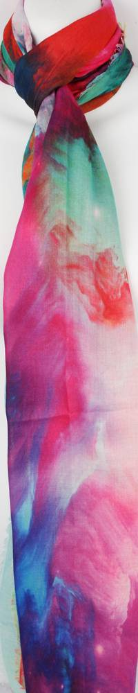 Alice & Lily printed scarf pansies Style: SC/4353/Ltd. Ed.