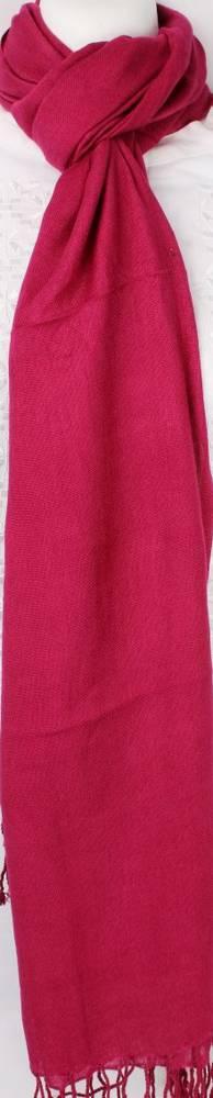 Plain scarf with tassels cranbury Code: SC/PLAIN/CRAN