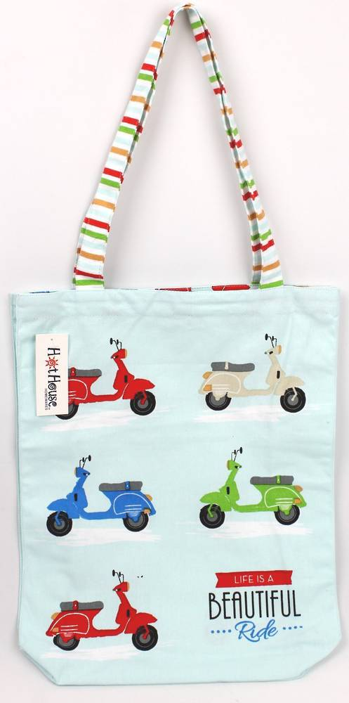 Scooter tote bag 'life is a beautiful ride' Code: TB-SCOO