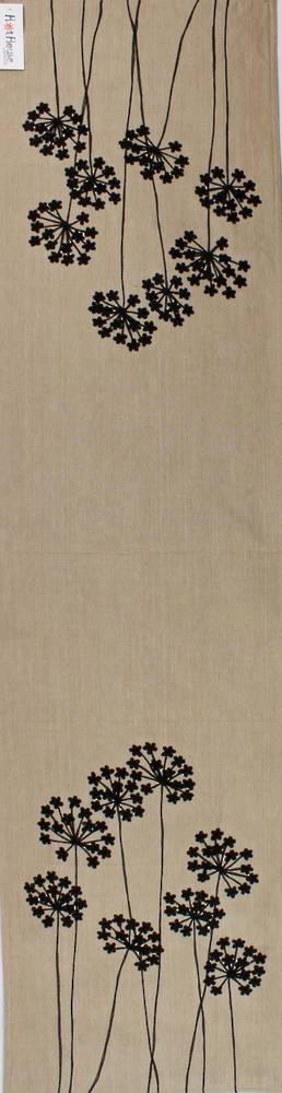 Dandeion placemat embroidered  35x150cm black multi Code: TR-DAN/BLK