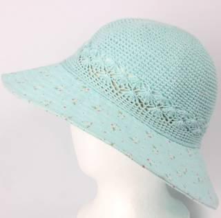 Cotton floral hat aqua Style: HS/9082