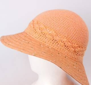 Cotton floral hat light orange Style: HS/9082