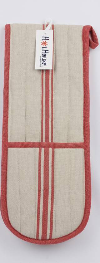 Marseille linen union double mitt red Code: DM-MAR/RED