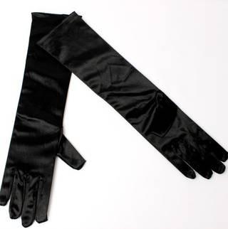 Evening glove of elbow  length 12bl black Code:S/EV5232